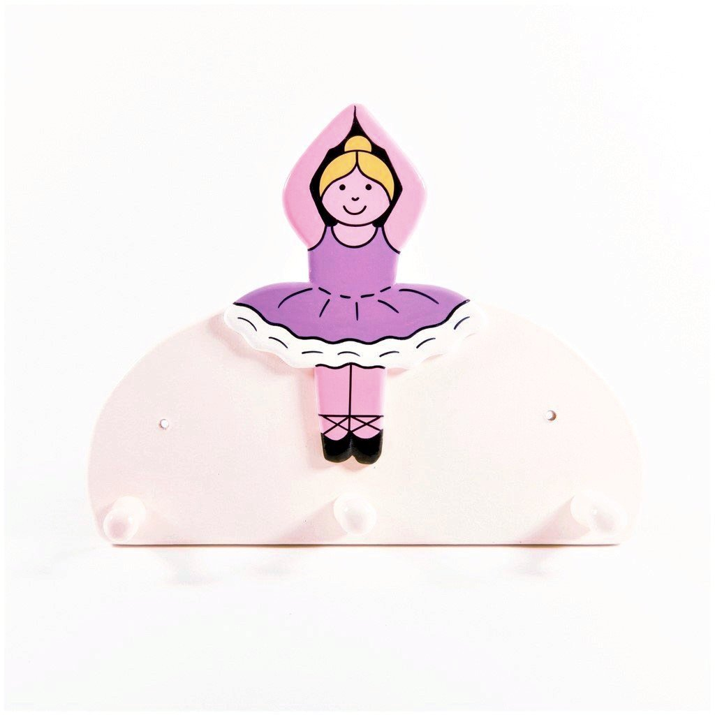 children's ballerina wall coat hook