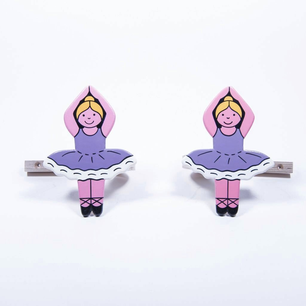 children's wooden ballerina curtain tie backs