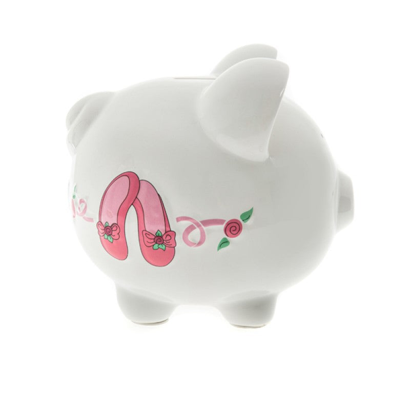 childrens ballet shoes piggy bank