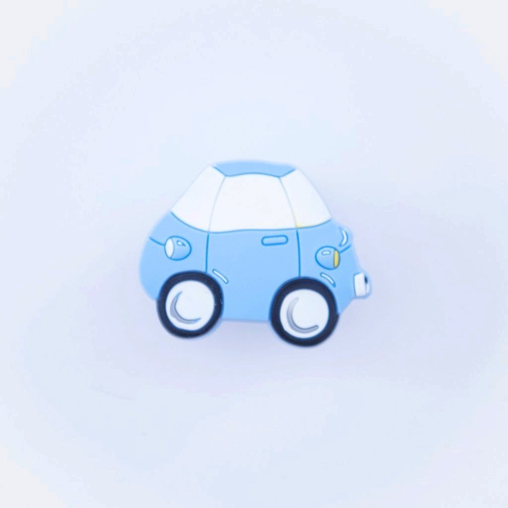 childrens blue car door knob / drawer knob