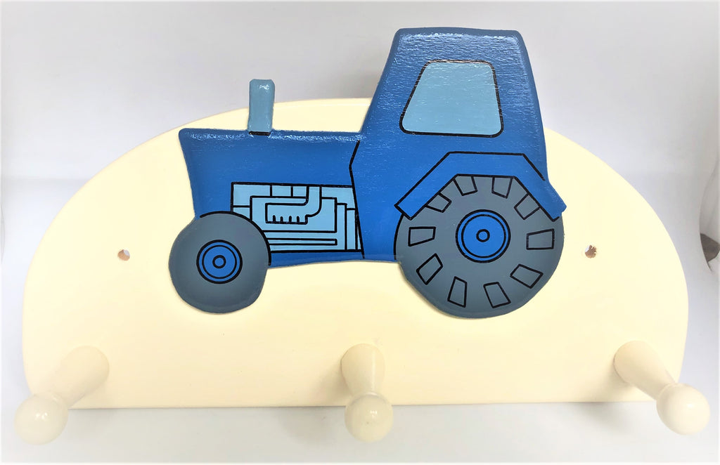 Blue Tractor Coat Hook