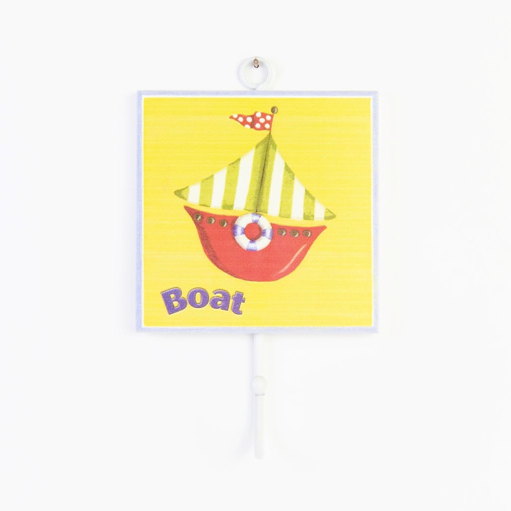children's individual boat coat wall hook