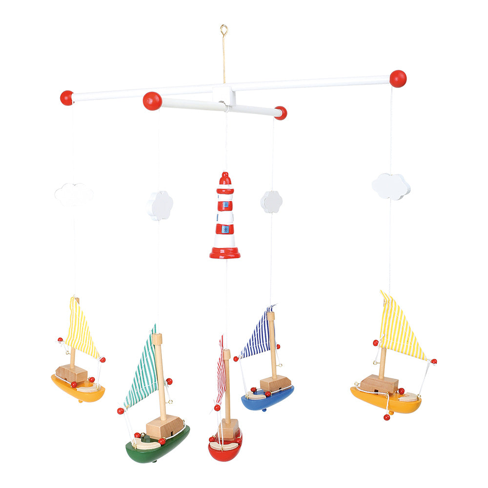 boats and lighthouse hanging mobile