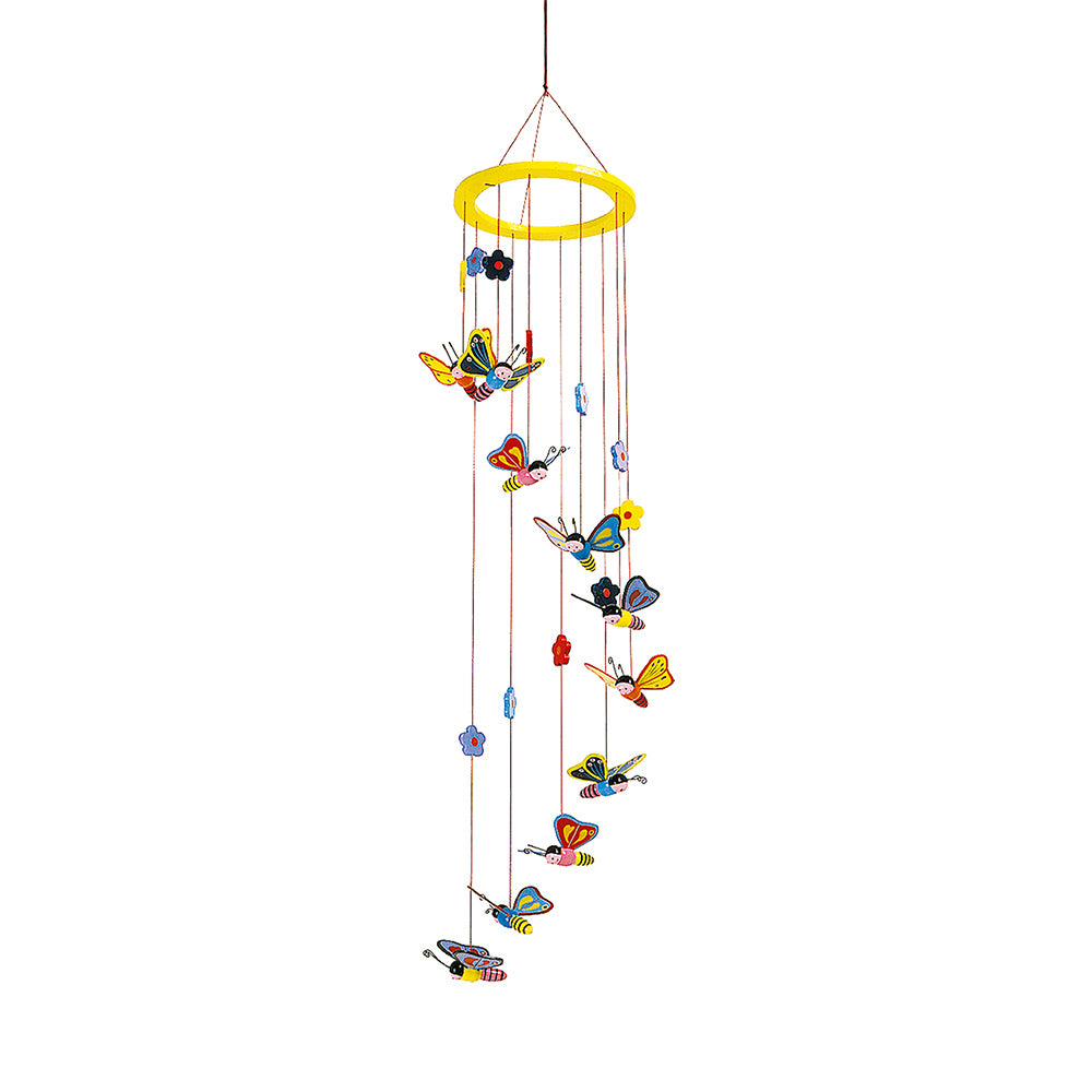 childrens butterfly and flowers hanging mobile
