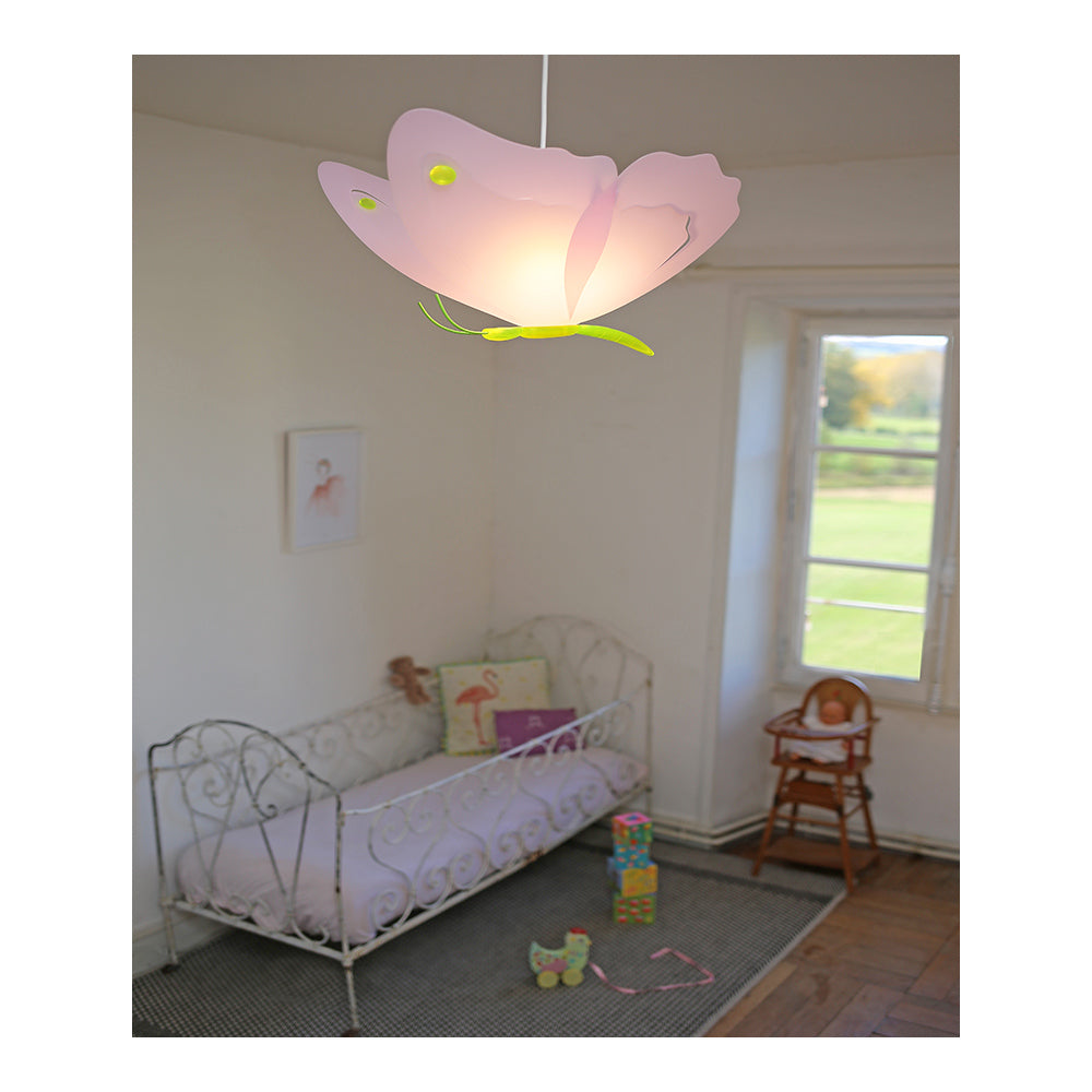 children's pink butterfly ceiling light