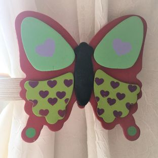 childrens butterfly curtain tie backs