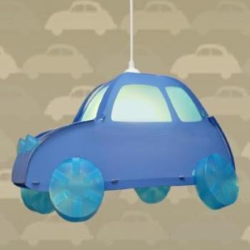 children's blue car ceiling light
