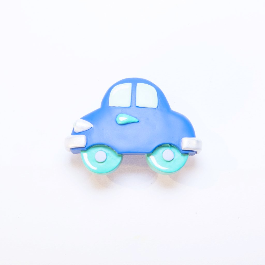 children's blue car door and drawer knob