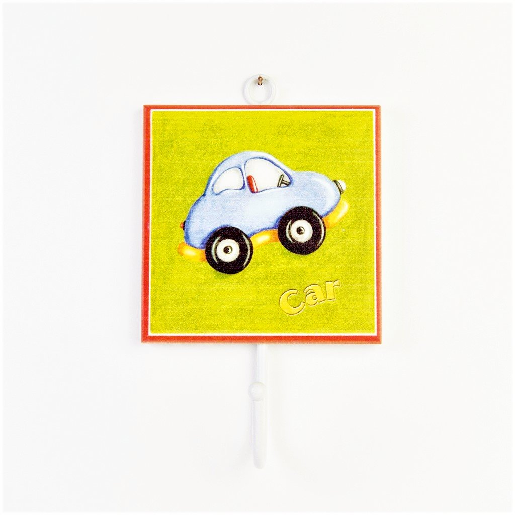 children's individual wall car coat hook