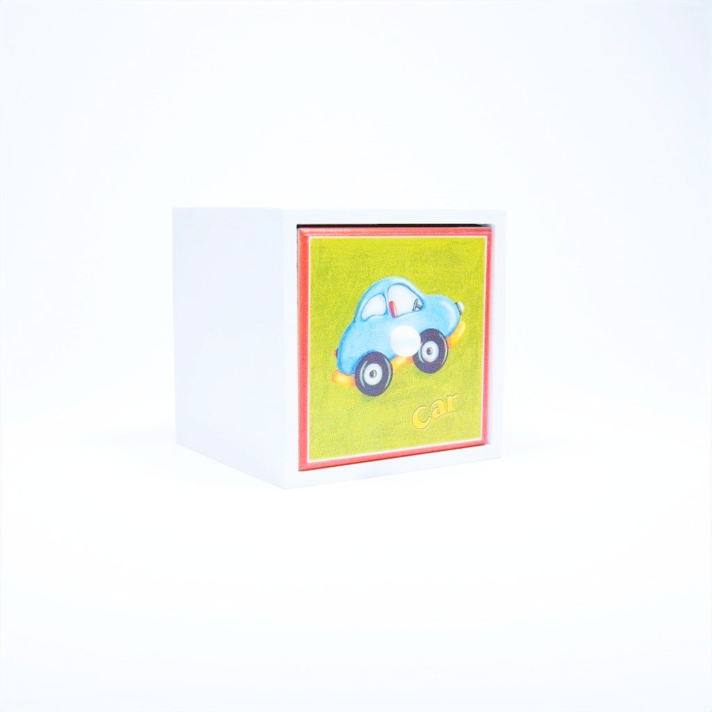 children's car storage cube