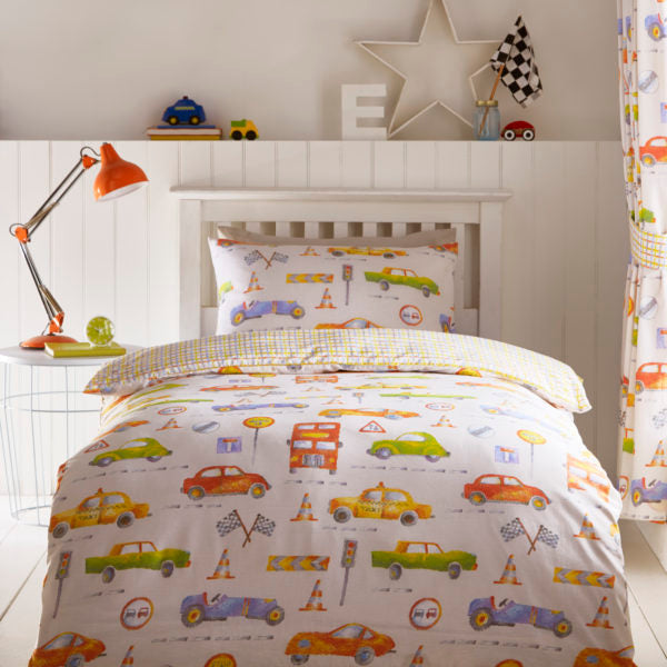 childrens cars bedding