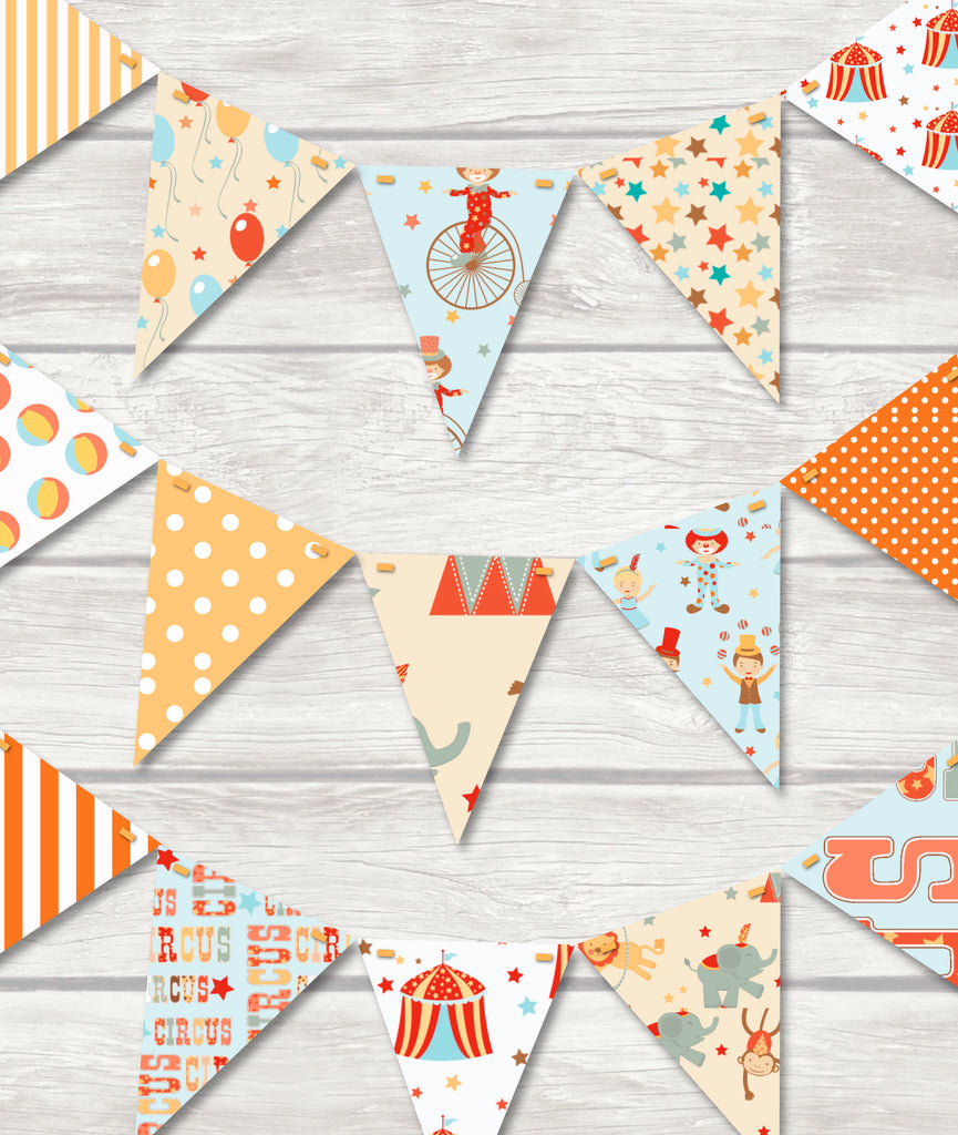 childrens circus bunting