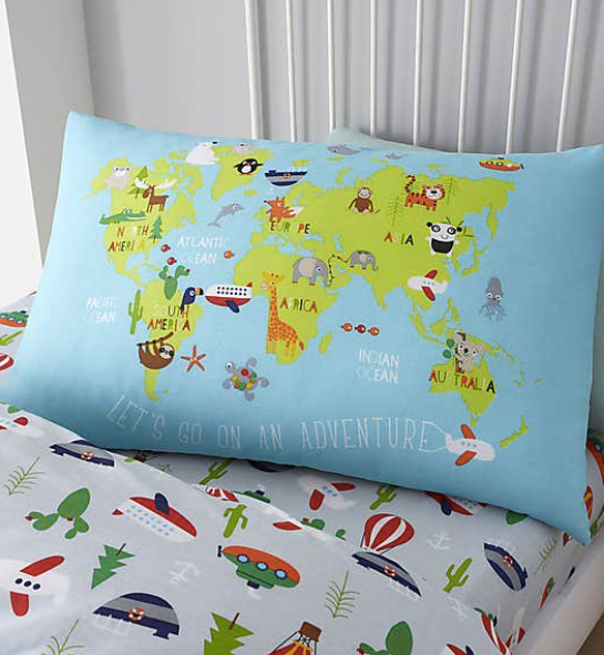 Animal Adventures Single Duvet and Pillowcase Set
