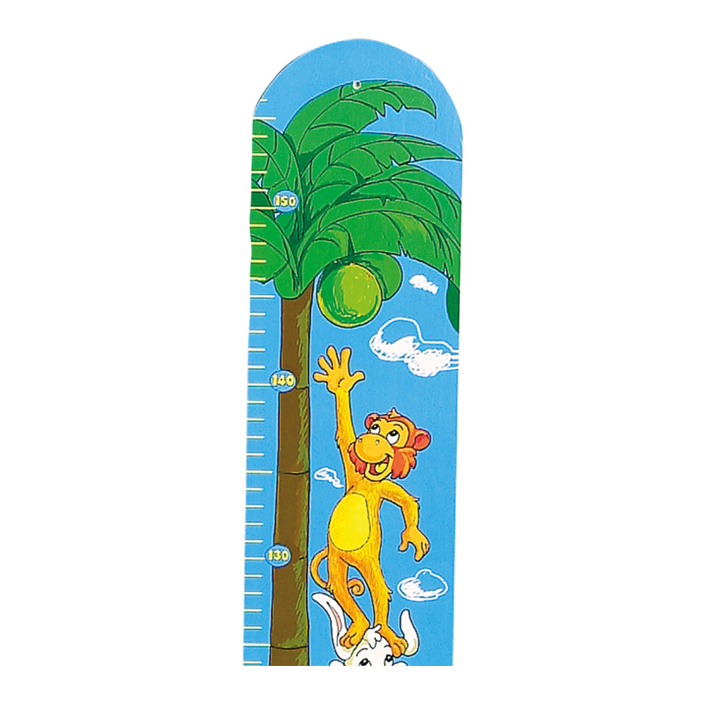 children's wooden coconut tree animal height chart