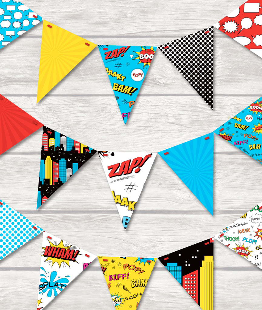 Childrens Superhero Bunting