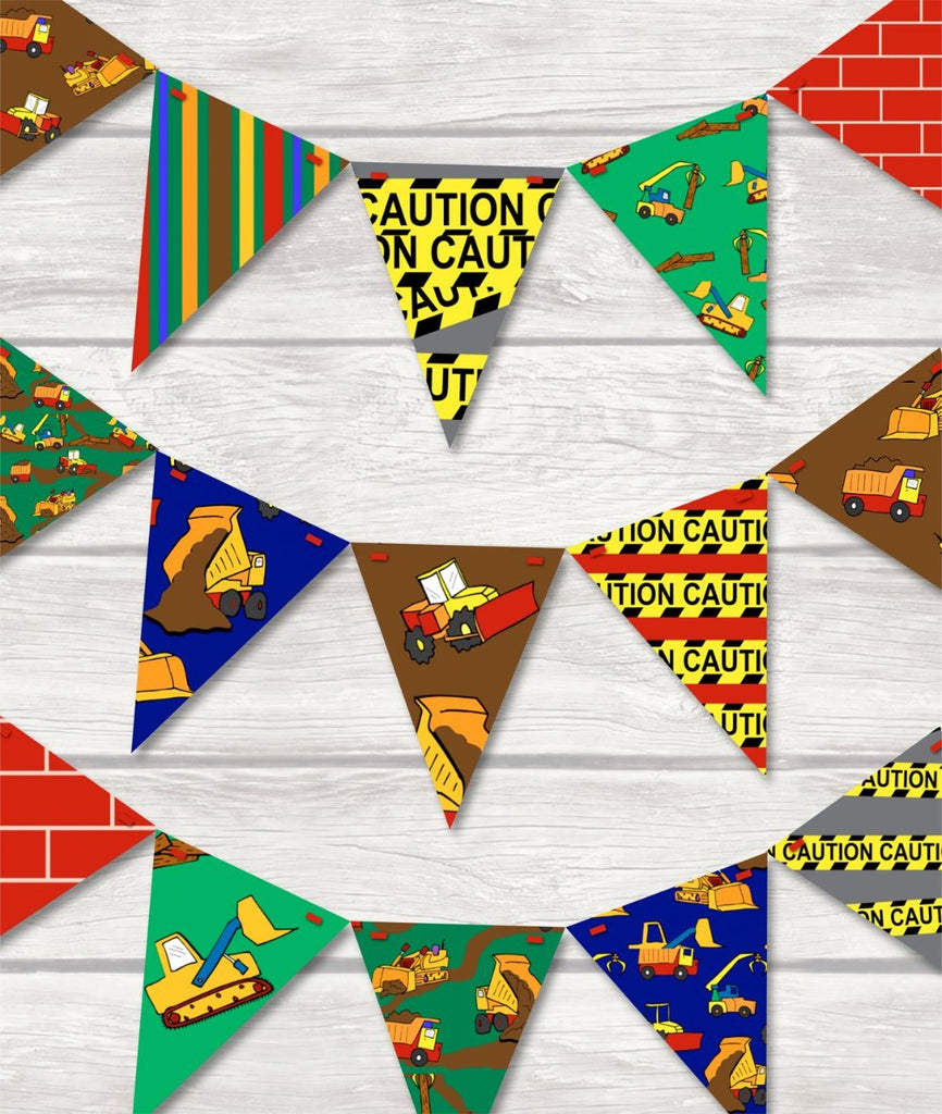 childrens construction bunting