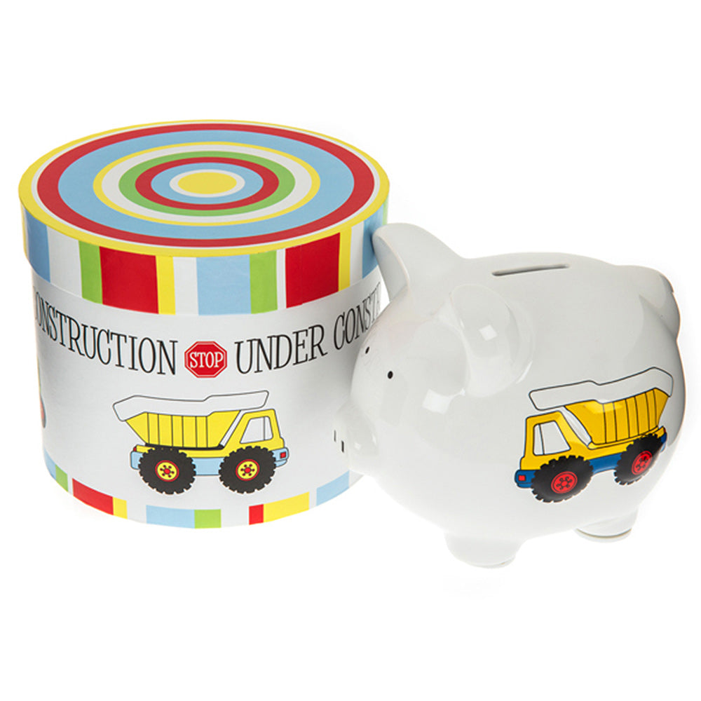 children's construction piggy bank