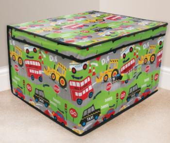 childrens road works storage box