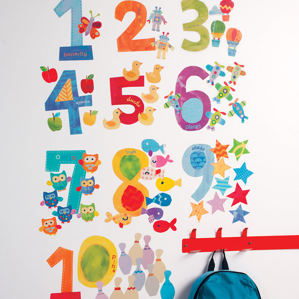 children's counting number wall stickers