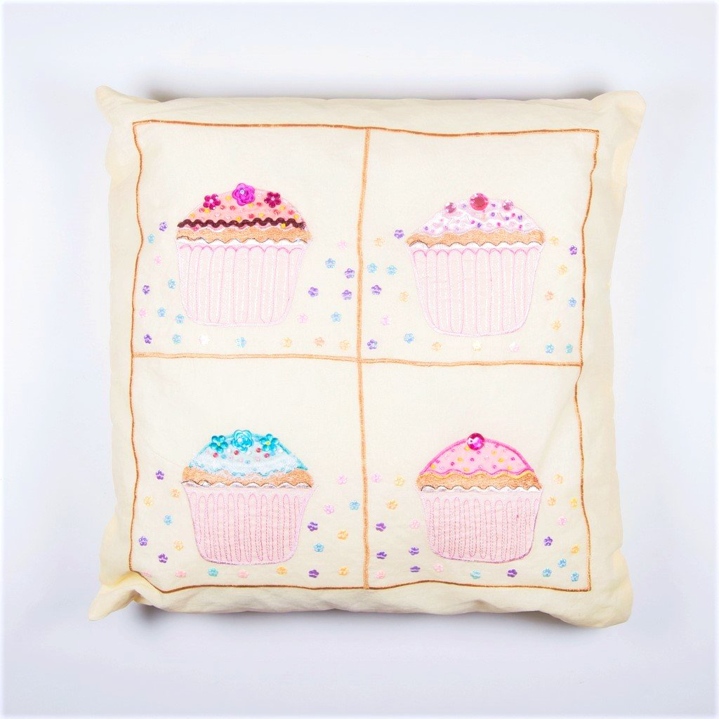 sass and belle children's cupcake cushion