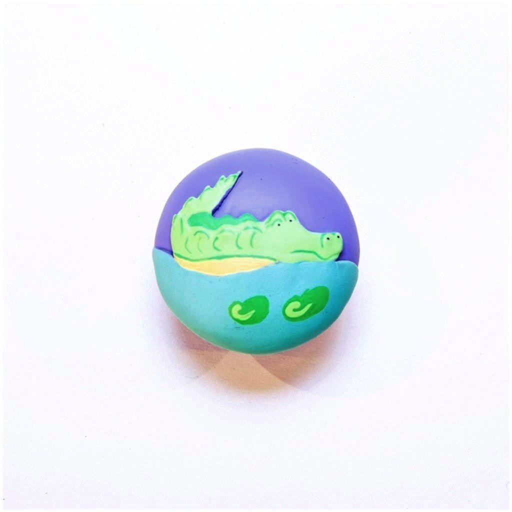 children's jungle crocodile door knob