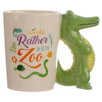 childrens ceramic crocodile jungle cup / mug