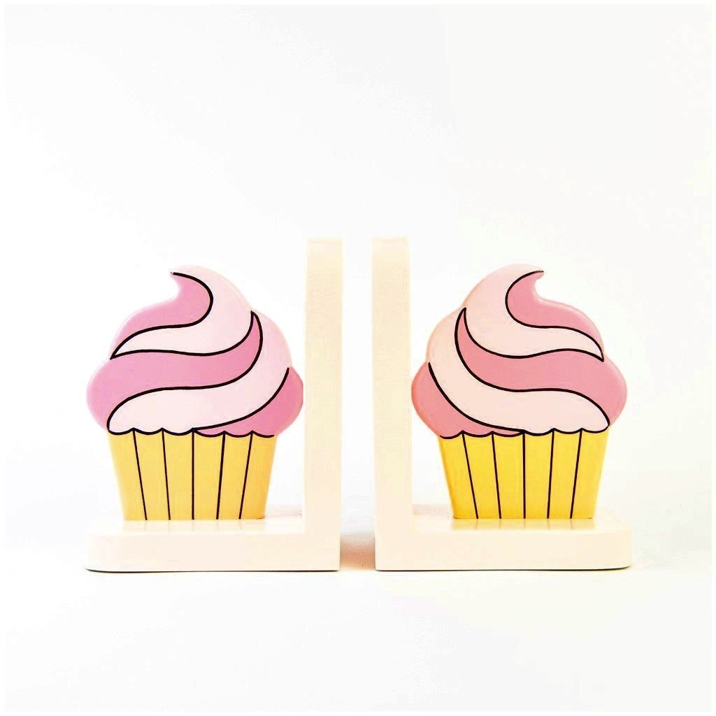 children's cupcake bookends
