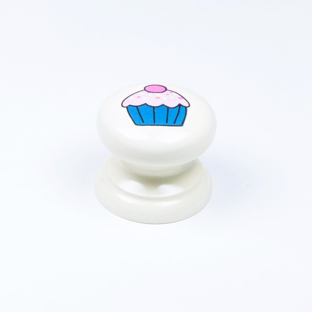 children's wooden cupcake door knob
