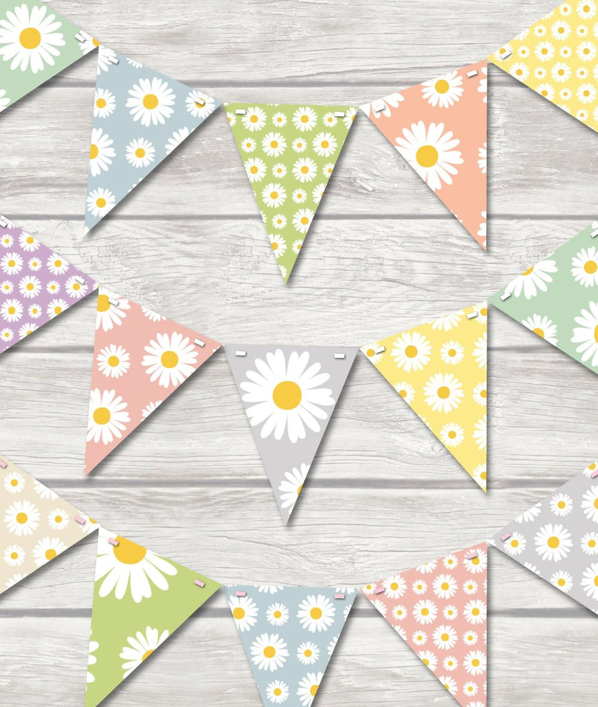 childrens daisy flower bunting