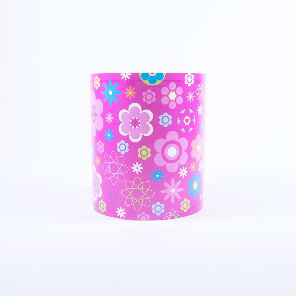 children's deep pink floral light shade
