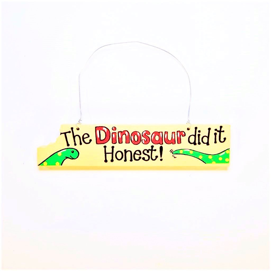 children's dinosaur door plaque