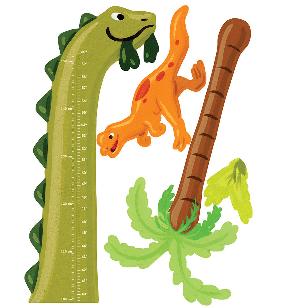 children's dinosaur height chart wall stickers