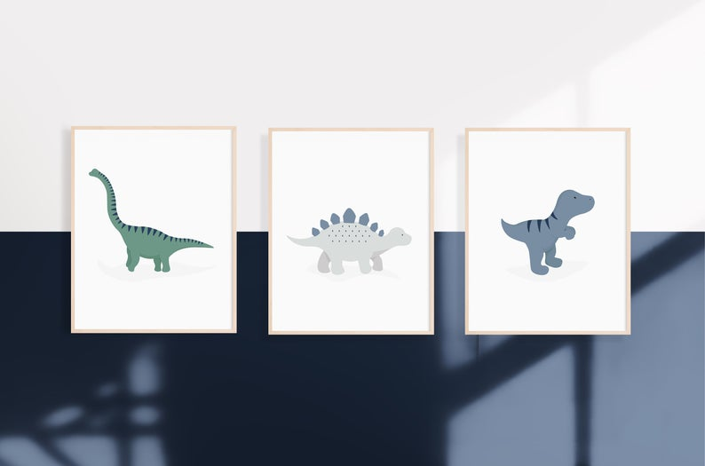 Set of 3 Dinosaur Prints