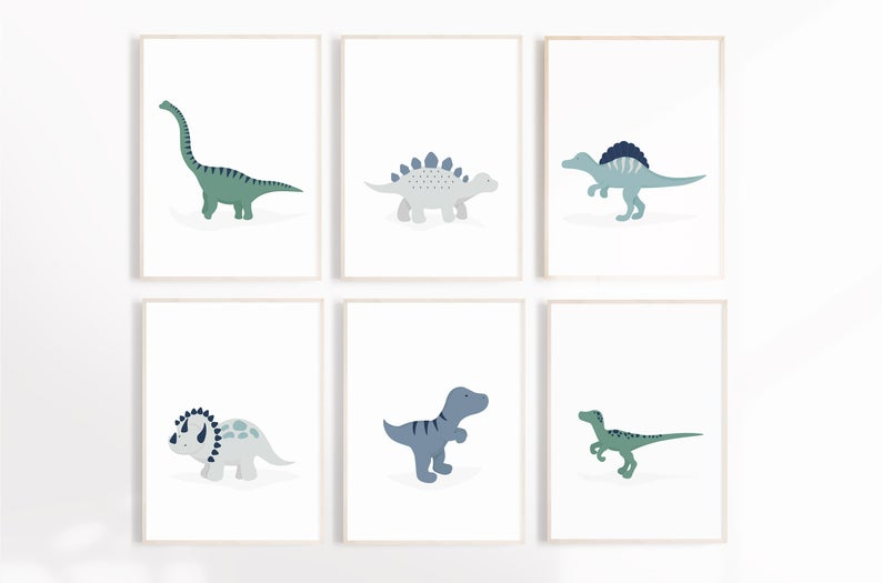 Set of 6 Dinosaur Prints