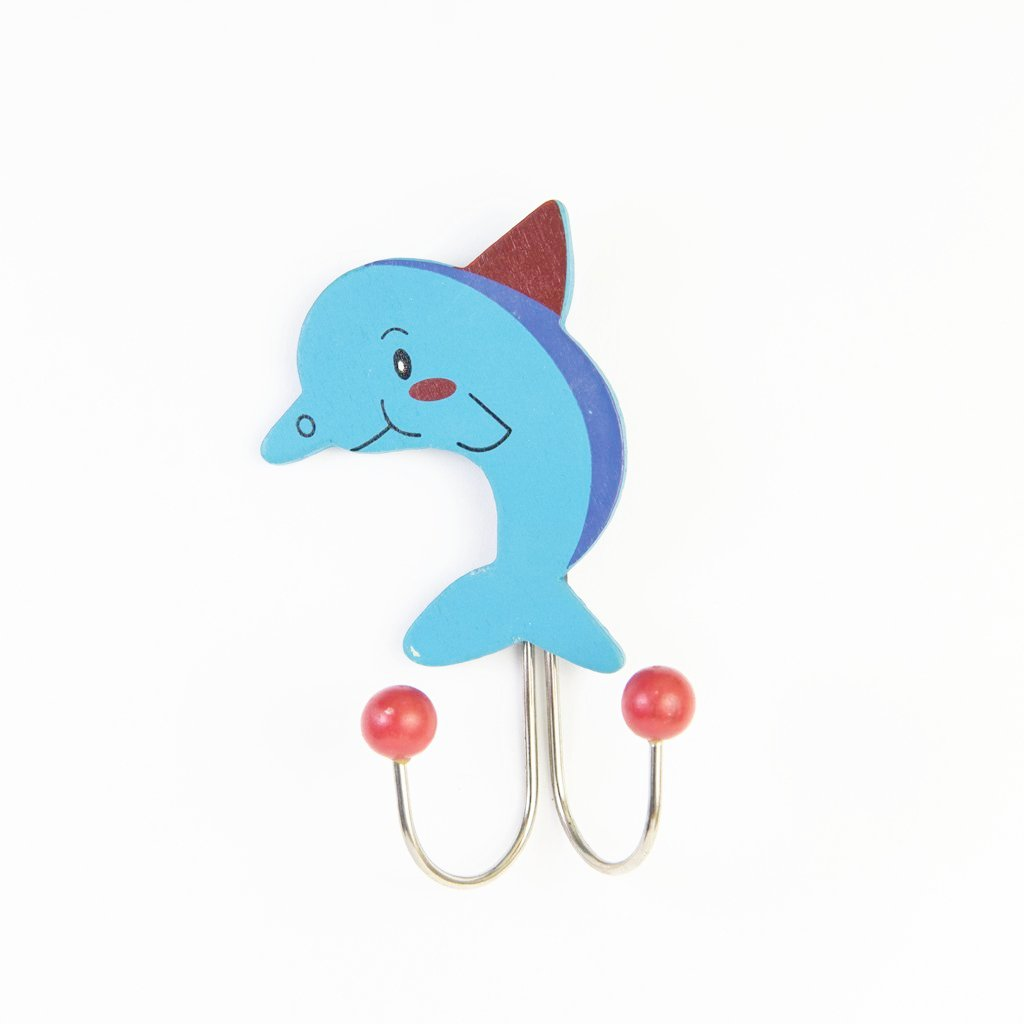 children's individual dolphin wall hook