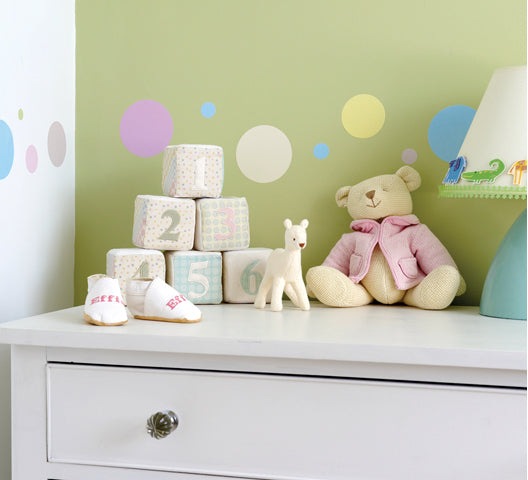 children's dotty wall stickers