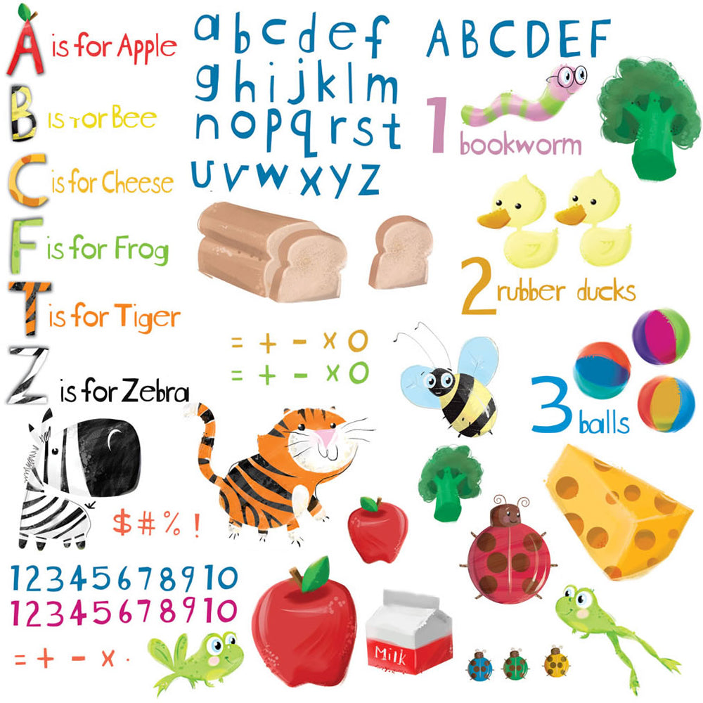 children's educational wall stickers