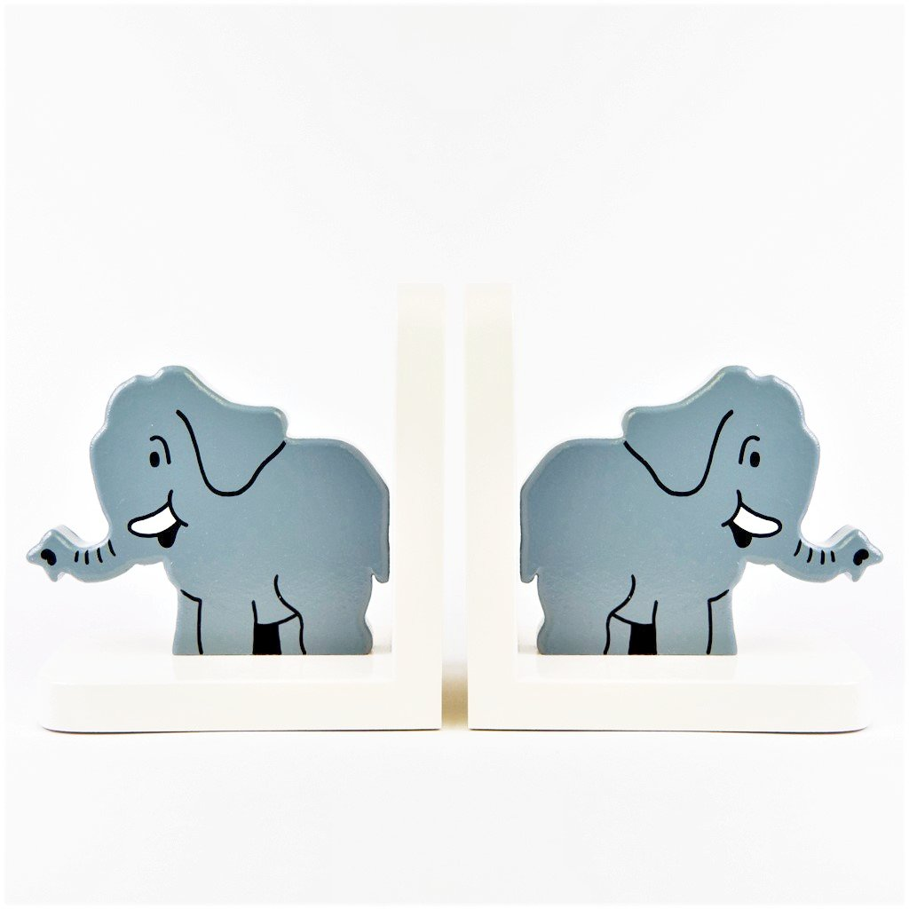 children's wooden elephant bookends