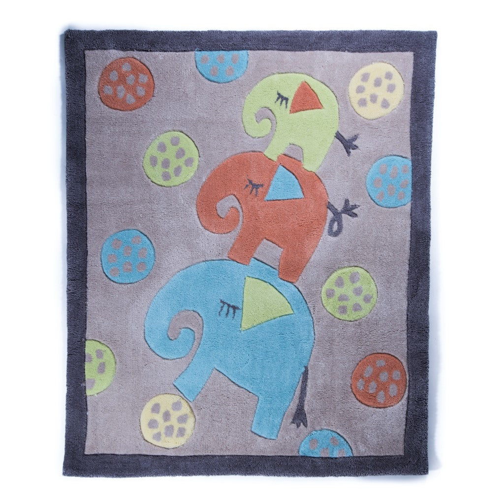 children's elephants rug