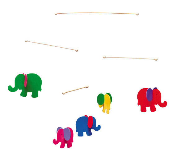 childrens elephants hanging mobile