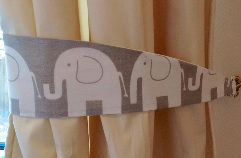 Elephant Curtain Tie Backs