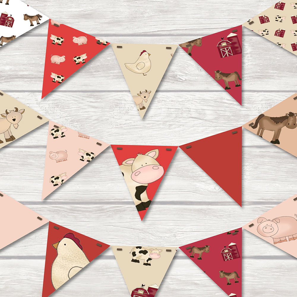 children's farmyard bunting