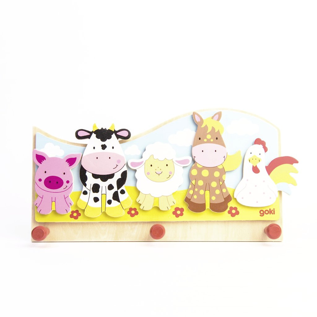 children's farmyard coat wall hook