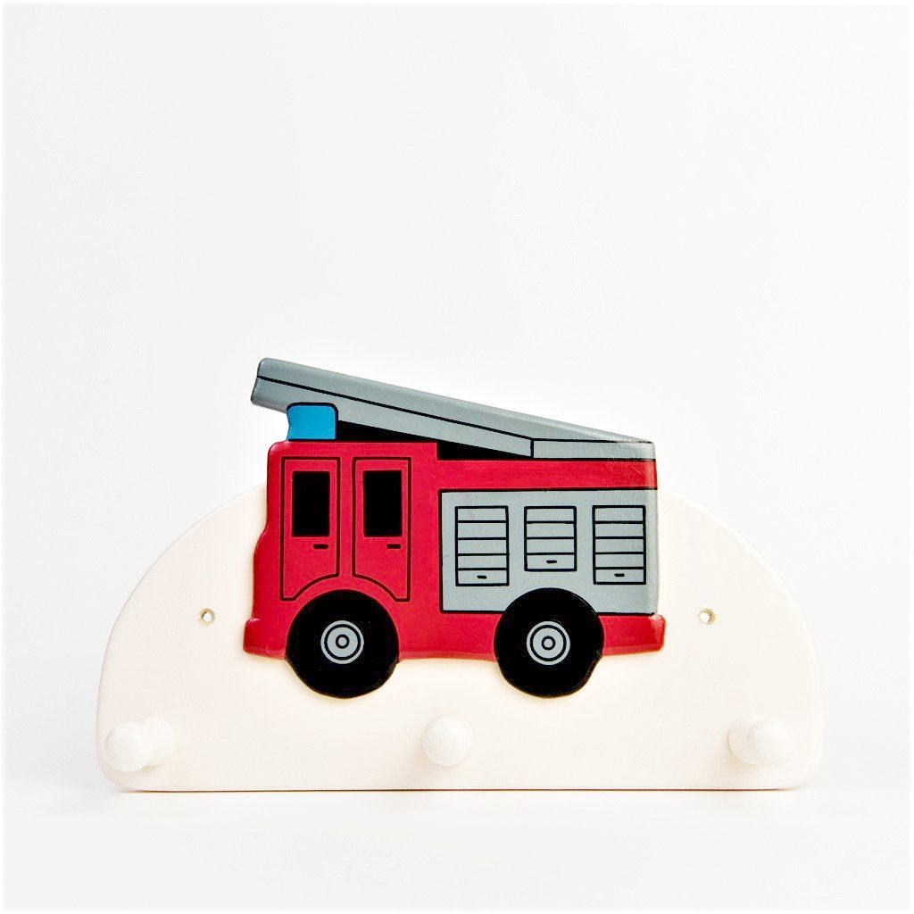 children's fire engine coat wall hook