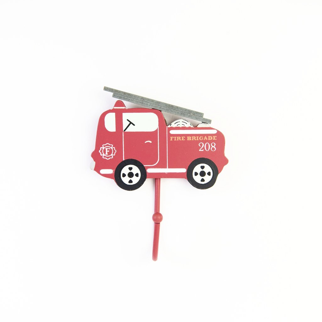 children's fire engine wall hook