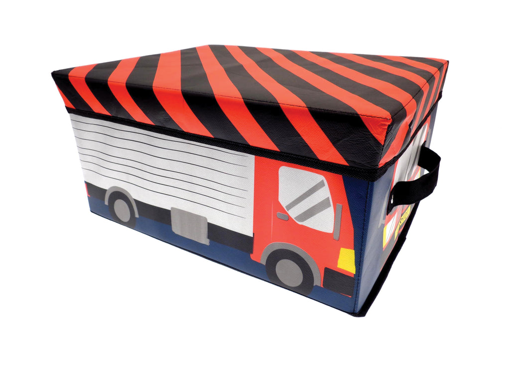 childrens fire engine storage box
