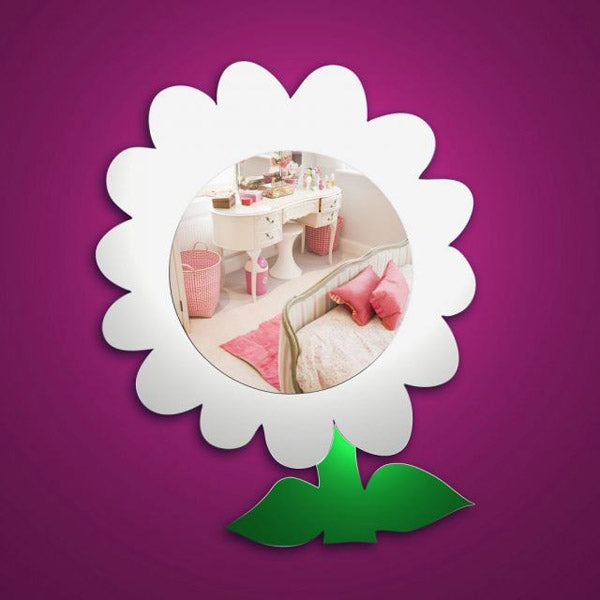 childrens flower mirror