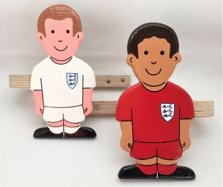 childrens footballer curtain tie backs