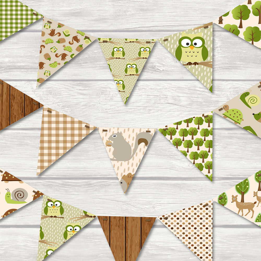 children's forest, woodland, owls bunting