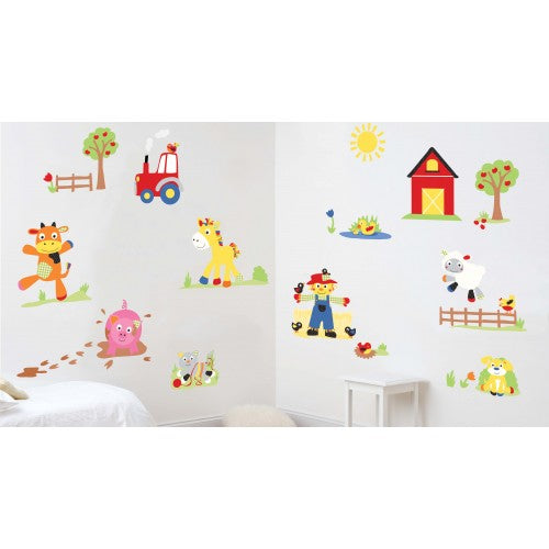 childrens funberry farm wall stickers
